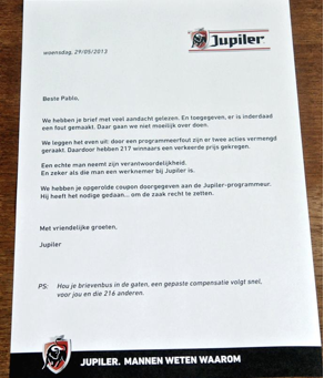 Pablo's coupon Jupiler